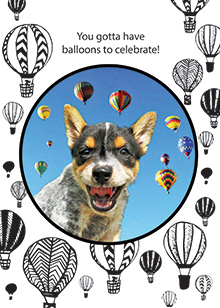 hotair balloons birthday card