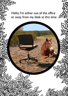 AWAY FROM MY DESK CARD