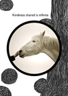 horses thank you greeting card